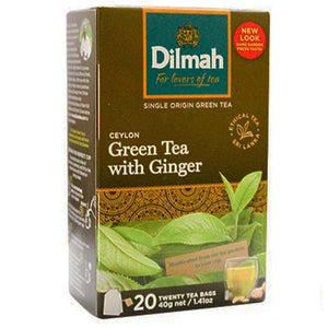 DILMAH TEA BAG CEYLON GREEN TEA WITH GINGER 20 BAGS - ANA Grocer by ANA Investment Pvt Ltd