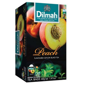 DILMAH TEA BAG PEACH 20 BAGS - ANA Grocer by ANA Investment Pvt Ltd