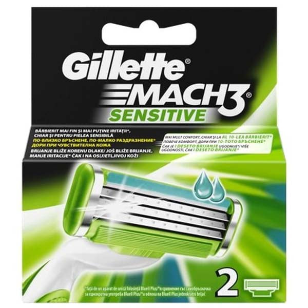 GILLETTE MACH3 SENSITIVE CARTRIDGE 2'S - ANA Grocer by ANA Investment Pvt Ltd