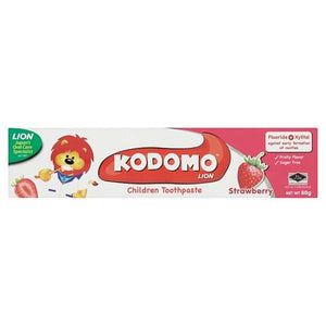 KODOMO CHILDRENS TOOTHPASTE STRAWBERRY 80G - ANA Grocer by ANA Investment Pvt Ltd