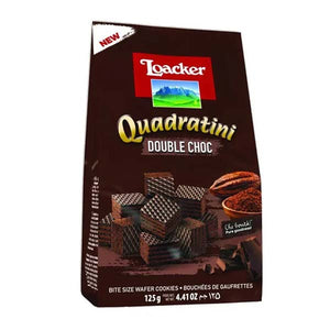 LOACKER QUADRATINI DOUBLE CHOCOLATE 125GM - ANA Grocer by ANA Investment Pvt Ltd