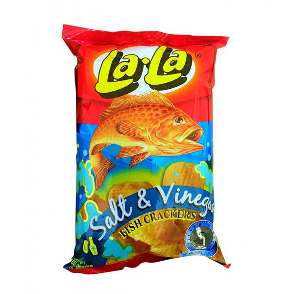 LALA FISH CRACKERS SALT & VINEGAR 100GM - ANA Grocer by ANA Investment Pvt Ltd
