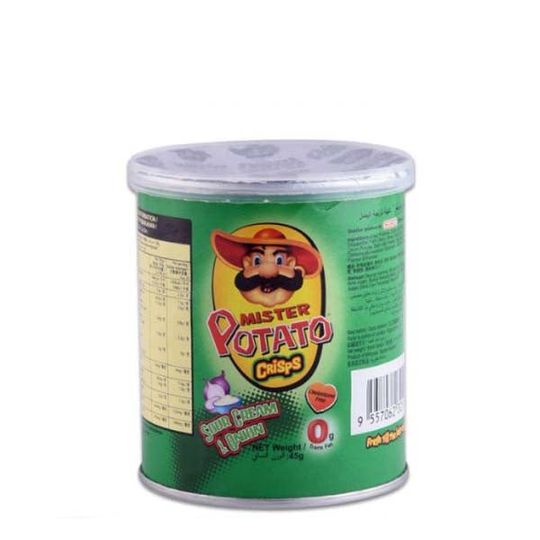 MR POTATO CRIPS SOUR CREAM ONION 45GM - ANA Grocer by ANA Investment Pvt Ltd