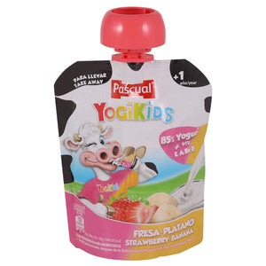 PASCUAL YOGIKIDS STRAWBERRY BANANA 80GM - ANA Grocer by ANA Investment Pvt Ltd