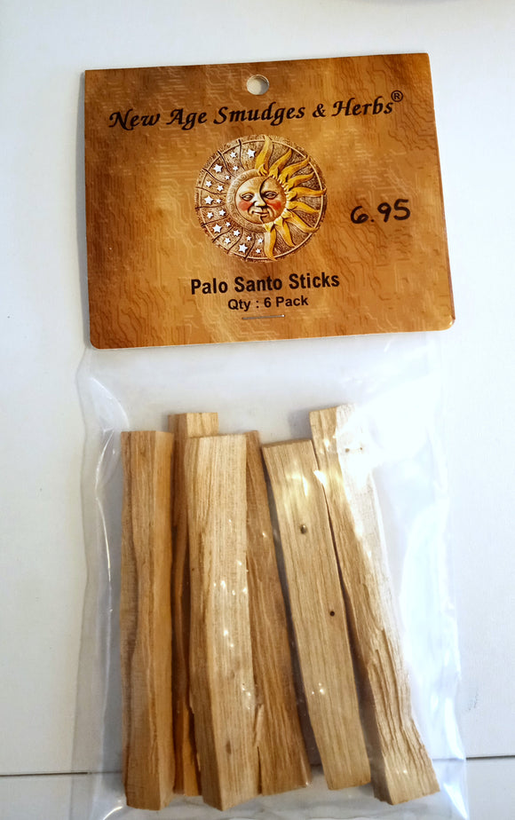 Palo Santo Sticks - Package of 6
