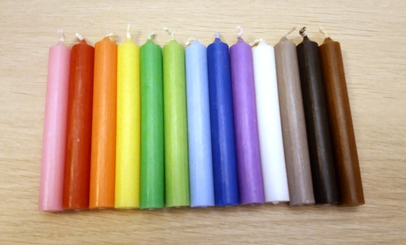 Colored Chime Candle - Small Spell Candles