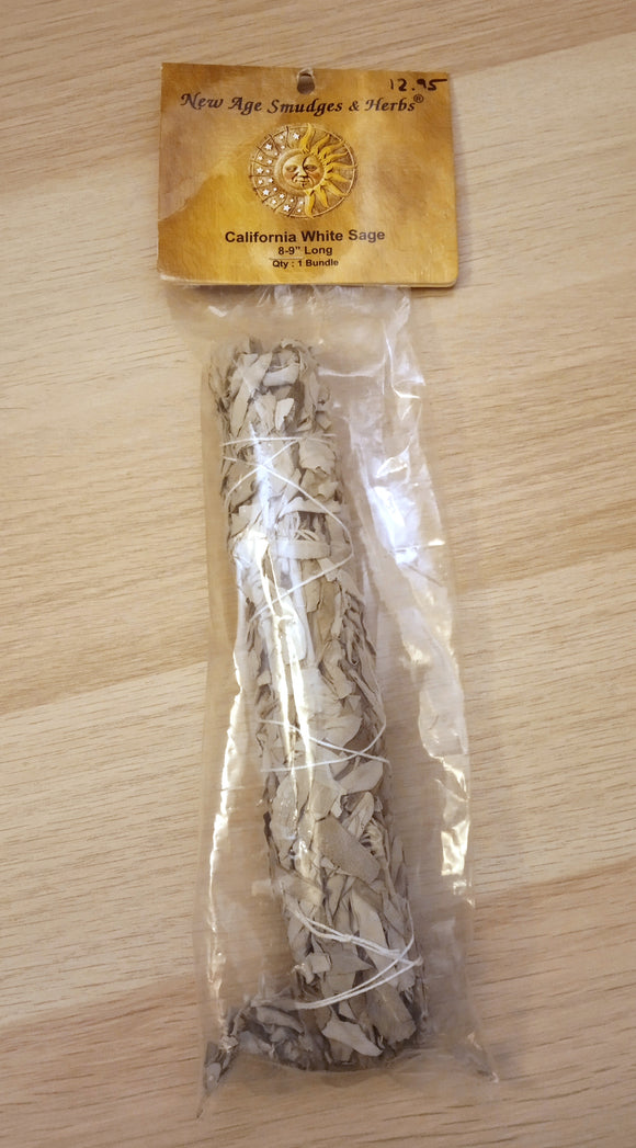 California White Sage Smudge Stick - 8-9 inches long