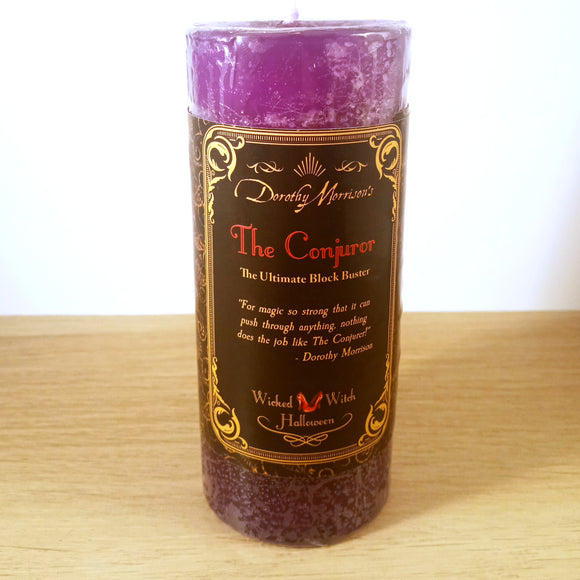 The Conjurer Purple Pillar Candle