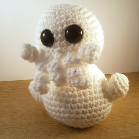 Snow-thulhu Crocheted Doll