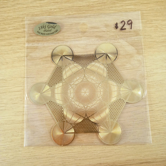 Gold Plated Metatron's Cube