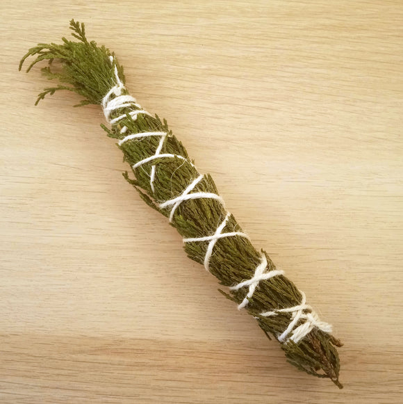 Cypress Smudge Stick - 5-6 inches long