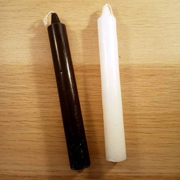 Black or White Small Taper Candle