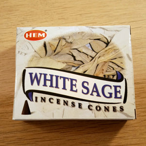 White Sage Incense - Pack of 10 Cones