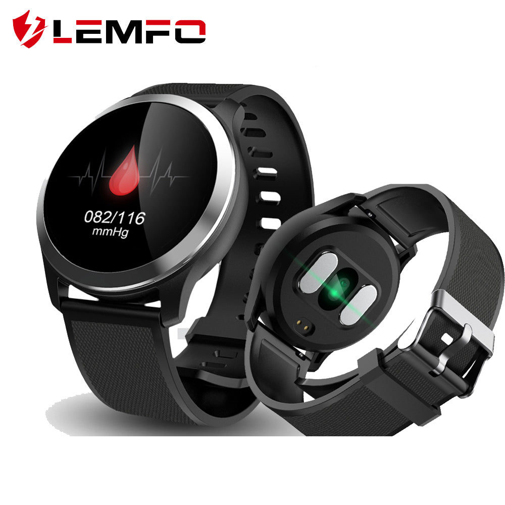 LEMFO 2019 Smart Watch ECG+PPG Heart Rate Blood Pressure Fitness Tracker Call Message Reminder Waterproof Smart Watch Men Women