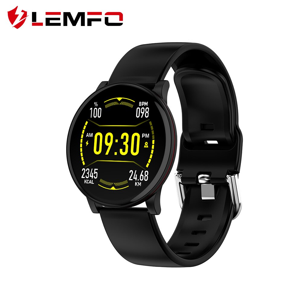 LEMFO Smart Watch Men Full Touch Screen Heart Rate Blood Pressure Monitor Weather Forcast Music Control Sports Smart Watch Women