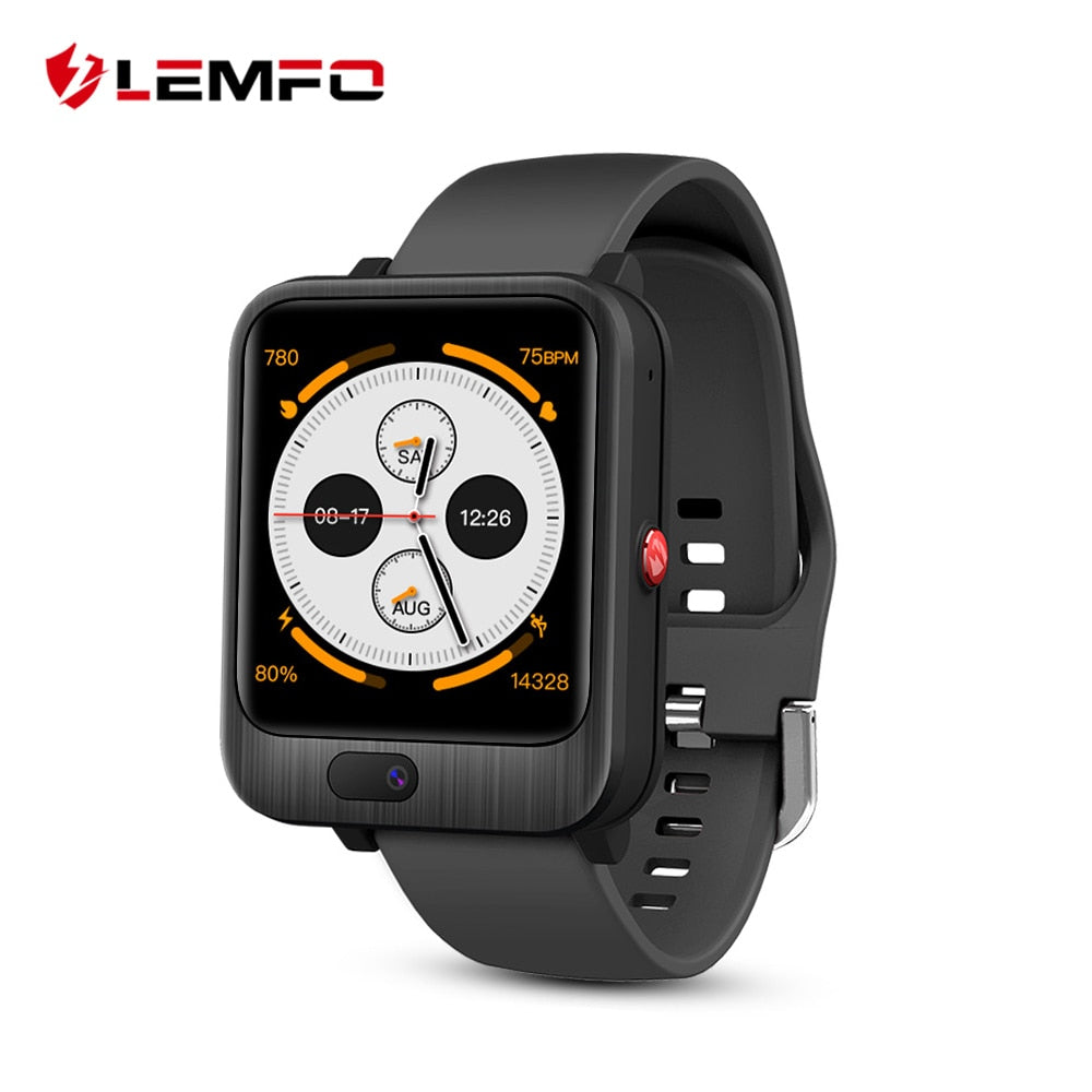 LEMFO Smart Watch Men 4G GPS WIFI 3+32GB Video Call With 1200mah Power Bank Wireless Bluetooth Speaker 2 in 1 Smart Watch LEM11