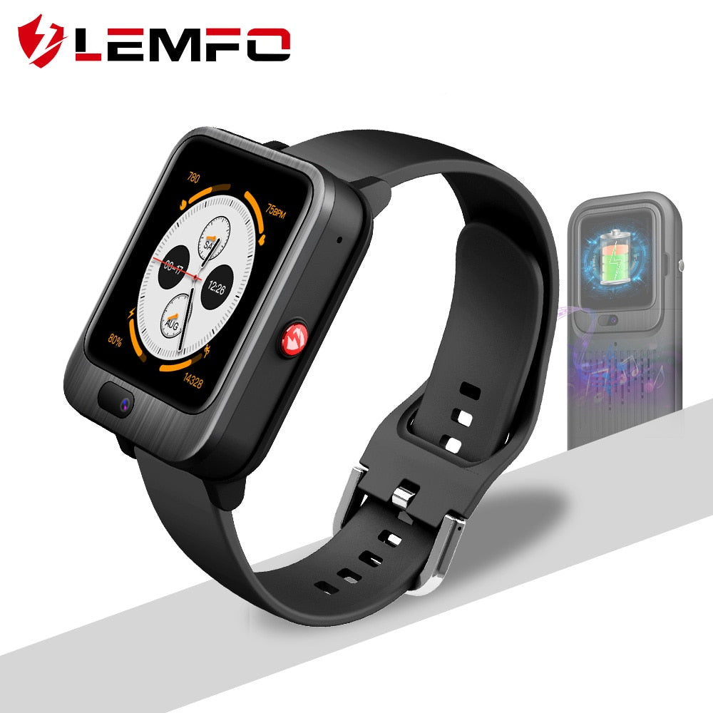 LEMFO LEM11 4G Smart Watch Men GPS 3+32GB Video Call With 1200mah Power Bank Wireless Bluetooth Speaker 2 in 1 Smart Watch Women