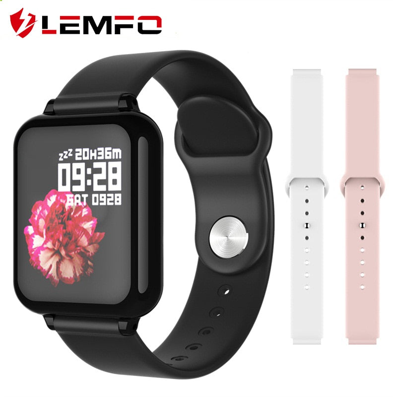 LEMFO Smart Watch Women Heart Rate Blood Pressure For Android Apple Phone Waterproof Call Message Reminder Smart Watch Men
