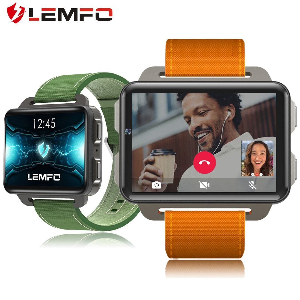 LEMFO LEM4 PRO 3G SIM GPS WIFI Smart Watch Men Heart Rate Monitor Calls Messages Video Player Pedometer Smart Watch Android