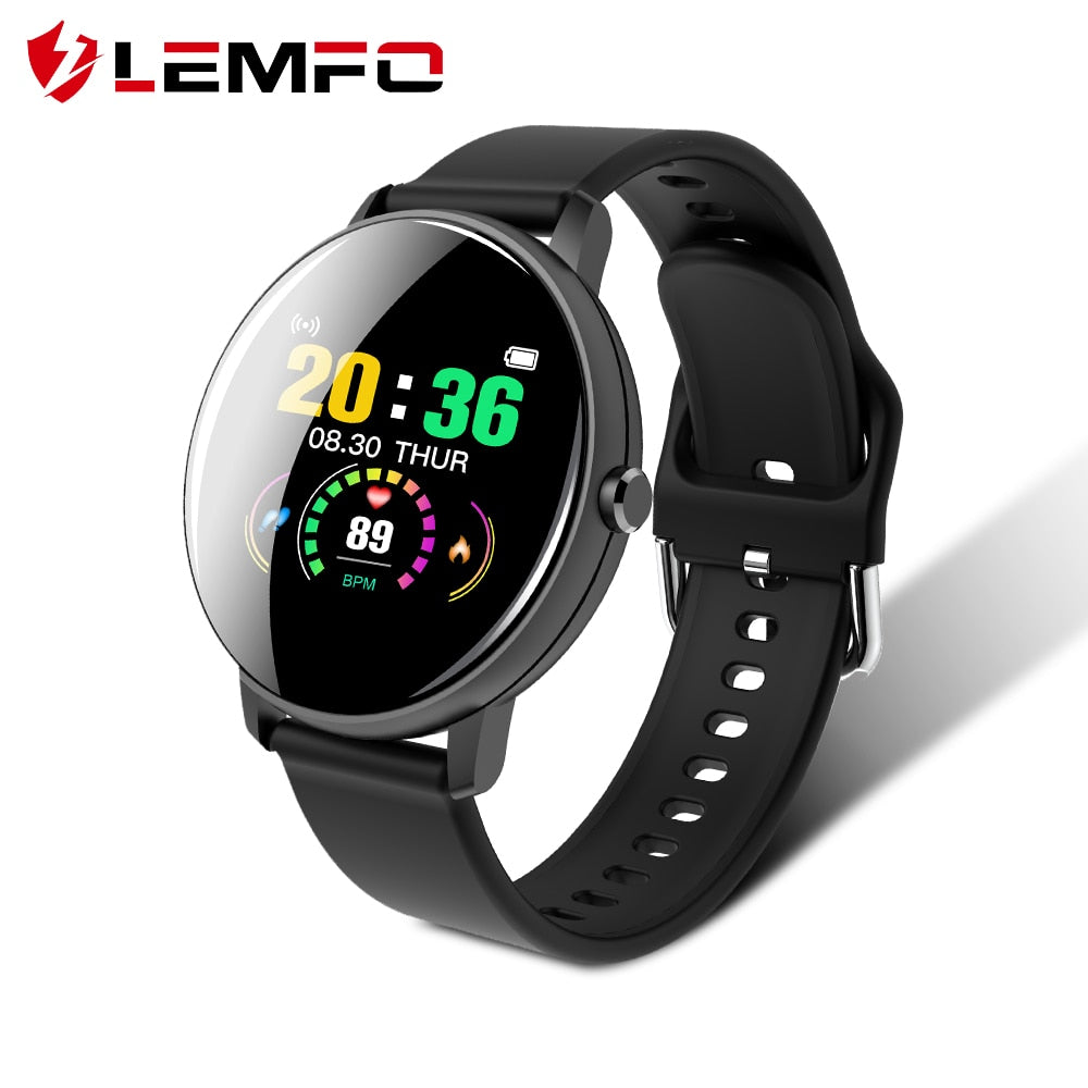 LEMFO Smart Watch Men Women Full Touch Screen Health Care Heart Rate Blood Pressure Monitor Sports Model Smart Watch Android IOS