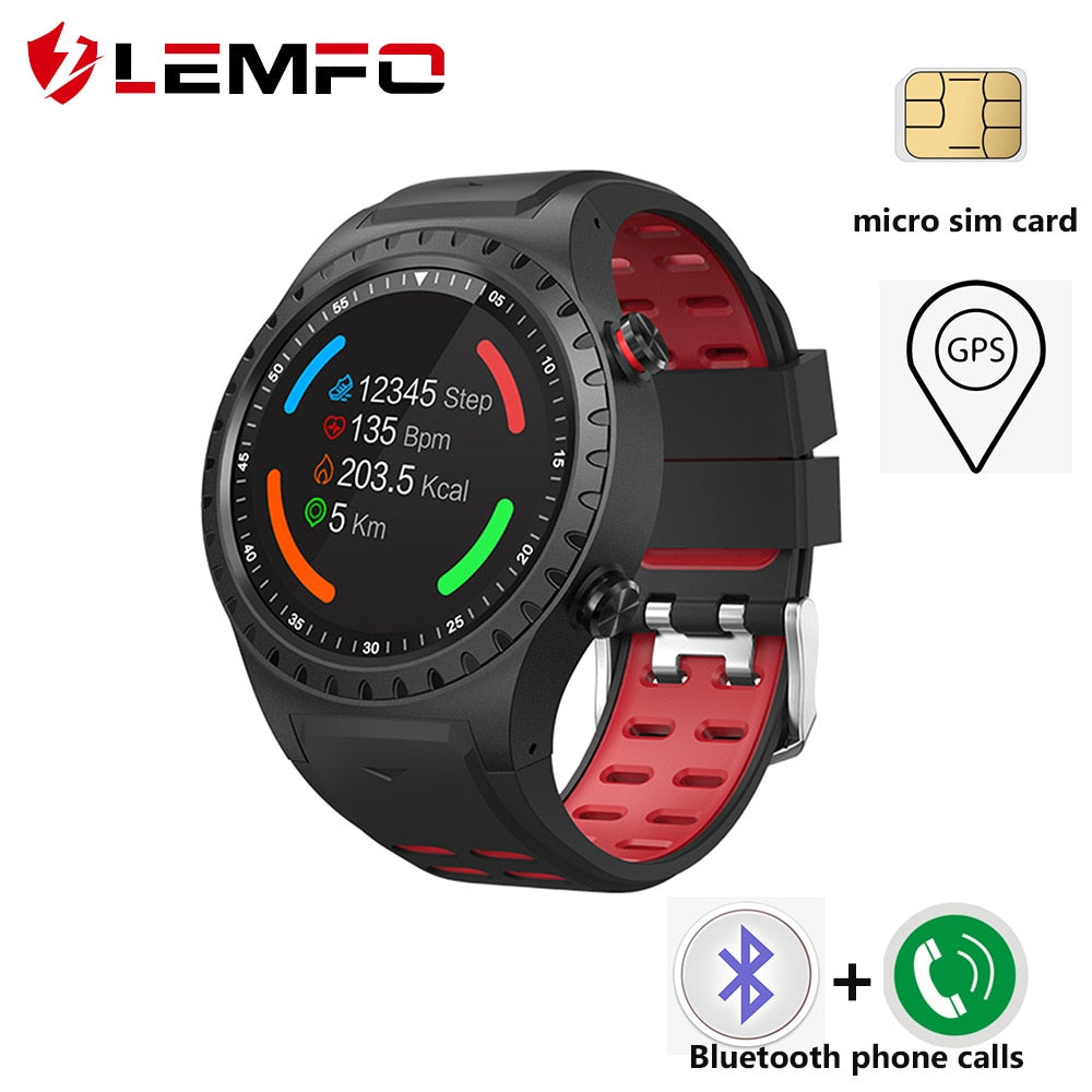 LEMFO M1 Smart Watch Support SIM & Bluetooth Phone Call GPS Smart Watch Men Full Touch Screen Waterproof Heart Rate Monitor