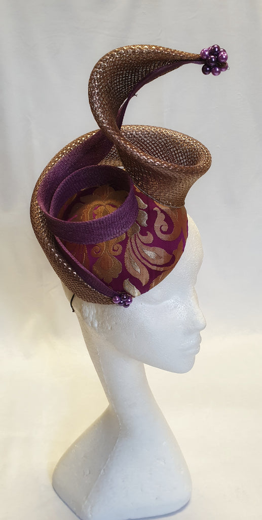 "Violet and Gold ""Indie"" Headpiece"