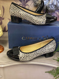 Caprice Light Grey Leopard Shoes