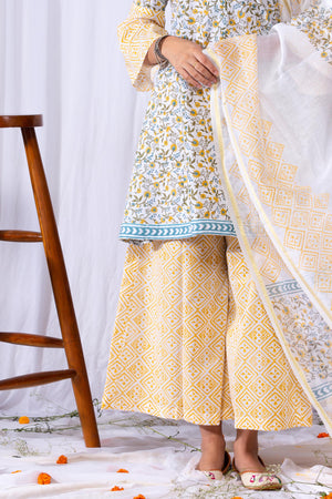 Lehriya Jaal Suit Set