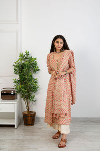 Peach Potli Suit Set
