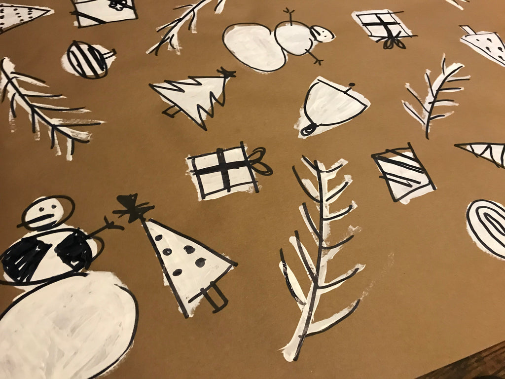 The Coolest, Easiest-To-Make-Wrapping-Paper in the World