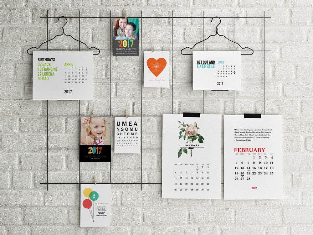 2017 Printable Calendars, New Years Cards and More!