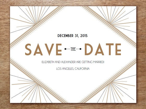 Save the Date Template: Deco