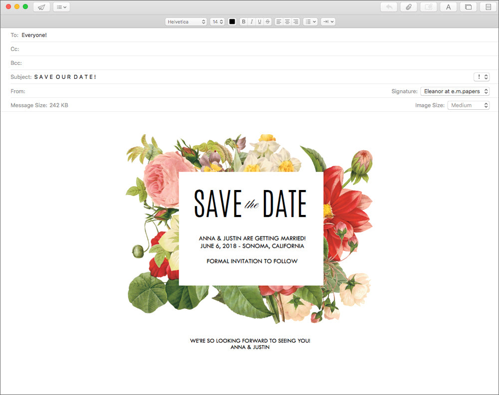 How to Make A Wedding Save the Date Email