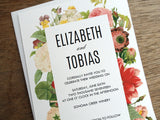 New Printable Wedding Invitation in the Shop: Lush Florals
