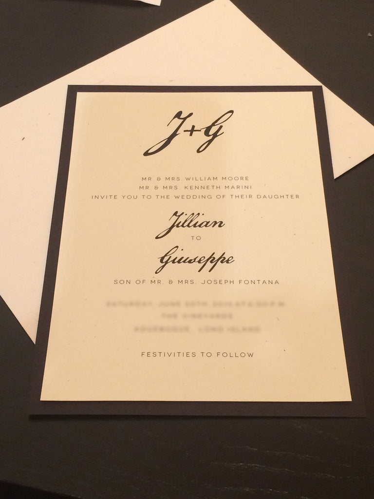 e.m.papers in Real Life: Calligraphy Monogram Wedding Invitation