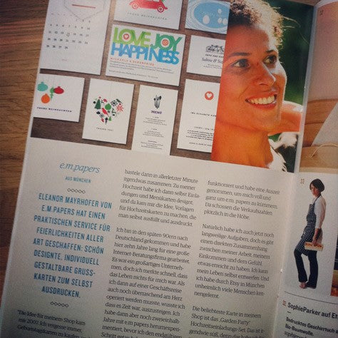 e.m.papers in Etsy Heft und Himbeer Magazin