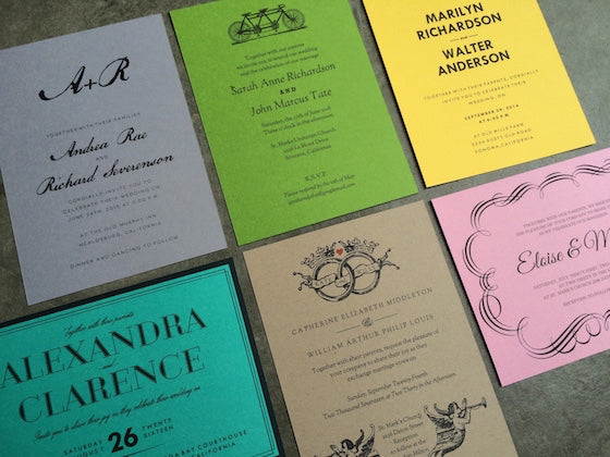 Printing black and white wedding invitations at home on colored paper