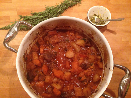 cooked beef stew from e.m.papers