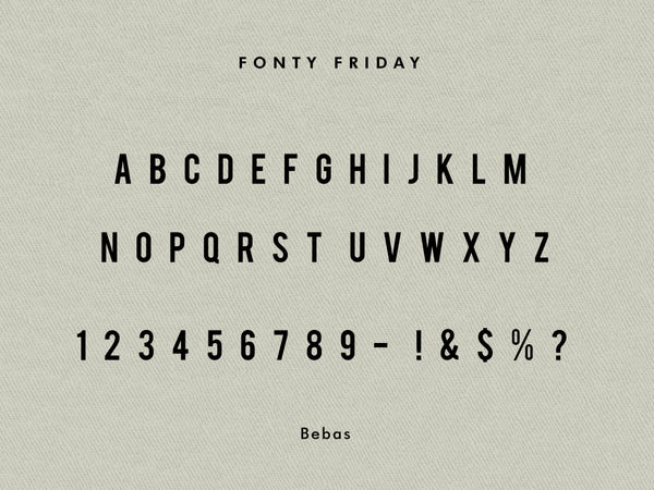 Bebas font - e.m.papers Fonty Friday