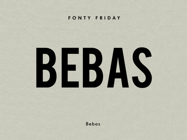 e.m.papers Fonty Friday - Bebas