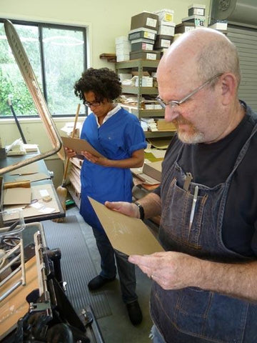 Printing my wedding invitations with my dad - Letterpress - e.m.papers