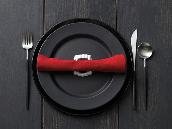 Vampire themed place setting
