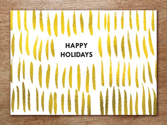 Christmas Card Design - Gold Holiday