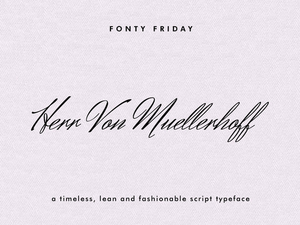 e.m.papers Herr Von Muellerhoff - Fonty Friday