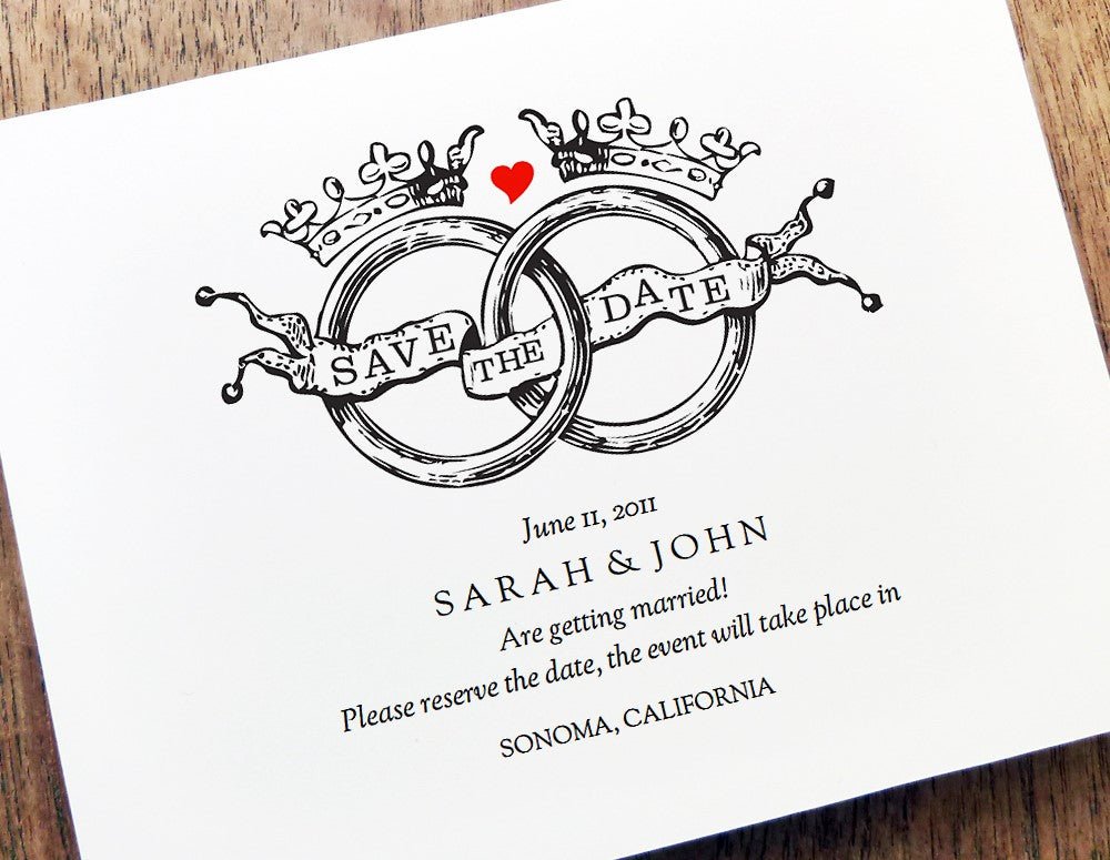 Kate and Wills Save the Date printable wedding template