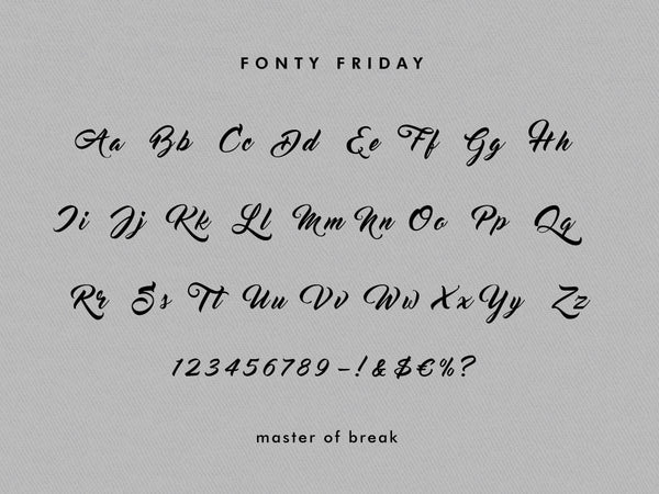e.m.papers Fonty Friday - Master of Break pt. 2 - font