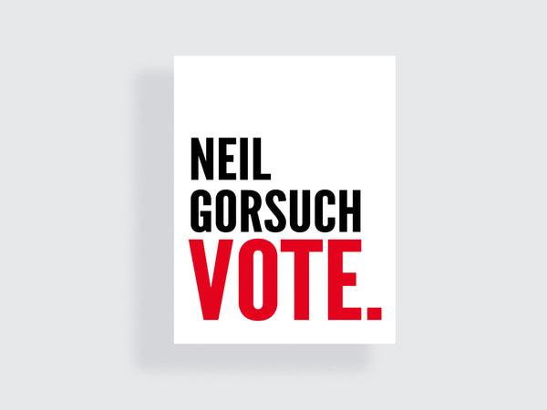 Neil Gorsuch - Stolen Supreme Court Seat - VOTE - e.m.papers - 2018 Midterms Election Motivational Poster