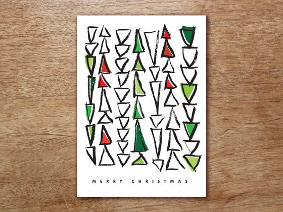 Christmas Card Template - Triangle Tree