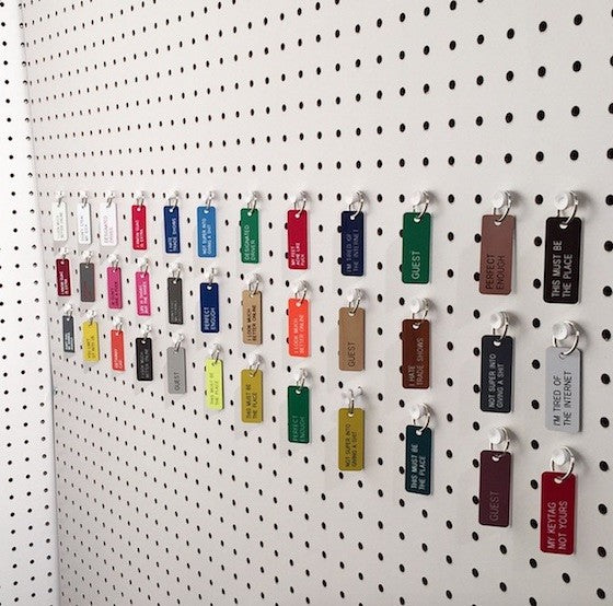 various key tags from national stationery show