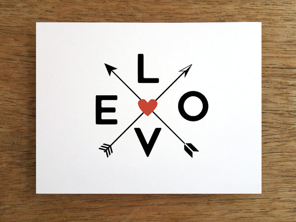 Printable Valentine Card - Cupids Arrows